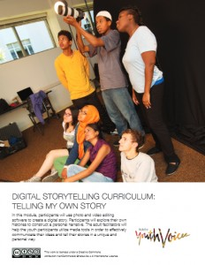 Digital Storytelling Curriculum: Telling My Own Story front page
